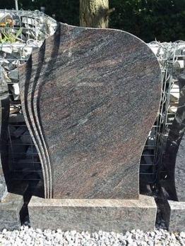 Grabmal Felsen Grabstein Grabanlage Granit Naturstein Paradiso + SOCKELSTEIN neu