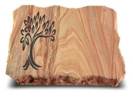 Grabplatte, Grabstein, Gedenkstein, Liegestein, Urnenstein ca. 40x30x5 cm