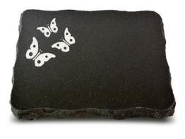 Grabplatte, Grabstein, Gedenkstein, Liegestein, Urnenstein ca. 40x30x5 cm Granit