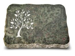 Grabplatte, Grabstein, Gedenkstein, Liegestein, Urnenstein ca. 40x30x5 cm,Granit