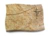 Grabplatte, Grabstein, Grabmal, Kissenstein, Kashmir , 40x30x7 cm
