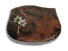 Grabplatte, Grabstein, mit Schrift, Natursteinart: Aruba, 40x30x7 cm