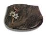 Grabplatte, Grabstein, mit Schrift, Natursteinart: Himalaya, 40x30x7 cm