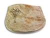 Grabplatte, Grabstein, mit Schrift, Natursteinart: Kashmir, 40x30x7 cm
