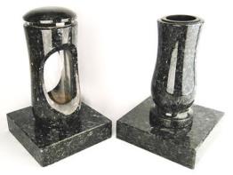 Grabschmuck Grablampe Grablaterne Grablicht Friedhofslampe Grabvase Granit