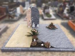 Grabstein, Grabmale, Doppelgrab, Stein, Grabanlage