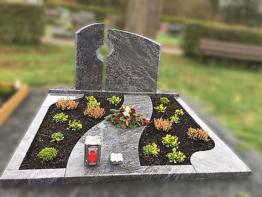 Grabstein, Grabmale, Grabanlage, Doppelgrab, Ornament