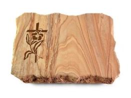 Grabstein, Grabplatte mit Ornament, Grabstein, Sandstein  ca. 40x30x5 cm Granit