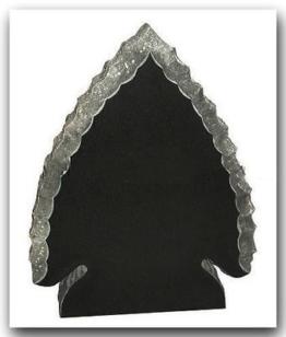 Grabstein, Granit Grabstein Baumform, China Black, 80x60x14cm, NEU!!!