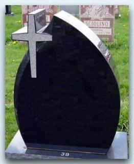 Grabstein in Tränenform mit Kreuz, 90x60x14cm, NEU!!