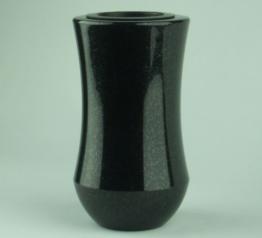 Grabvase Atria Granit Schwedisch Black Friedhofsvase Grabmalvase Grabschmuck