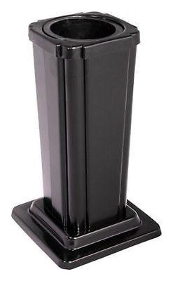 Grabvase Edelstahl schwarz Grab Vase mit Einsatz Grabschmuck
