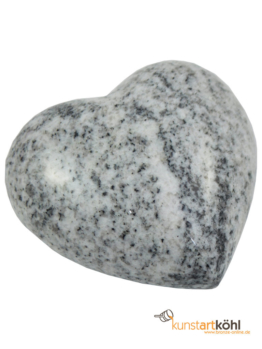 Granit, Herz,Viscont White Herz aus Granit, Grab, Allerheiligen, Deko, Grabstein