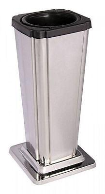 Kleine Grabvase Edelstahl poliert  Edelstahl Vase mit Einsatz Grabschmuck