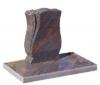 Liegestein Grabstein mit Inschrift Grabplatte Gedenkstein Urnenstein Granit Grab