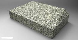 Liegestein Karo mit Inschrift Grabplatte Grabstein Gedenkstein Urnenstein Granit