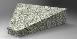 Liegestein Trapez mit Inschrift Grabplatte Grabstein Gedenkstein Urnen Granit