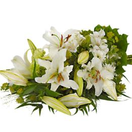 Liegestrauß mit Lilien