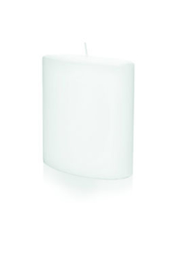 Moderne Formenkerze Ovalkerze klein 150x135 Rohling Farbe Weiss Kerzen Wiedemann