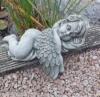 STEINFIGUR Engel Engelsflügel Grabengel Grabschmuck Frostfest Steinguss 42 cm