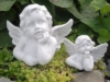 Steinfigur Engel Set Putte Gartendeko Grabschmuck Engelsmotive frostfest