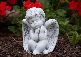 Steinfigur Engel sitzend Steinguss frostfest wetterfest Steinfiguren Grabschmuck