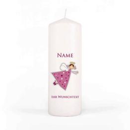 Trauerkerze Sternenkind mit Namen und Ihrem ganz persönlichem Text in rosa