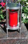 Grablampe aus Edelstahl, Grablaterne, Grabgestaltung, Edelstahl, Allerheiligen