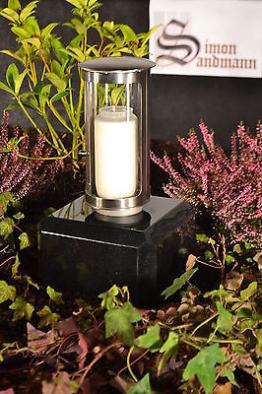 Grablampe | Grablaterne | Grabschmuck | Grab | Grablicht aus Edelstahl ->NEU