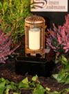 Grablampe | Grablaterne | Grabschmuck | Grablicht aus Messing ->NEU