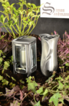 Grablampe | Grablaterne | Grabschmuck | Grabvase im Set aus Aluminium ->NEU