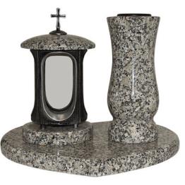 Grablampe Granit Grabvase Granitvase Granitherz  Herz aus Granit schlesisch