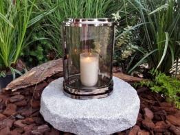 GRABLATERNE MIT SOCKEL EDELSTAHL LATERNE GRABLICHT GRABLAMPE  GRABSTEIN LAMPE