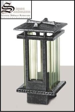 Grableuchte/Grablampe/Grablaterne/Sockel/Alu /Grablicht aus Messing (Jansen) NEU