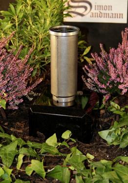 Grabvase aus Aluminium   Grabschmuck   Grablape   Grablicht   Vase -->NEU