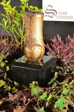 Grabvase aus Messing | Grabschmuck | Grablape | Grablicht | Grab | Vase ->NEU