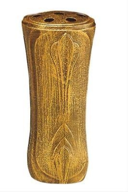 Grabvase bronzefarbig 25 cm