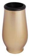 Grabvase Edelstahl bronzefarben Grab Vase mit Einsatz Grabschmuck