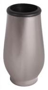 Grabvase Edelstahl schwarz-goldfarben Grab Vase mit Einsatz Grabschmuck