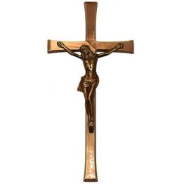 Jesus Grabkreuz Relief Kreuz Grabschmuck Ornament Kreuz aus Messing Messing 25cm