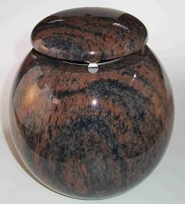 Weihwasserkessel Kugel Granit Gneis Weihwasserbehälter Grabschmuck Grabmal
