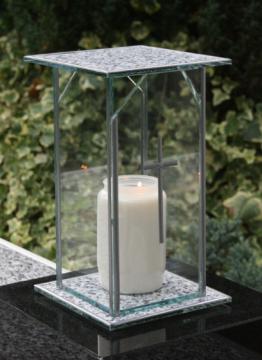 DESIGN GRABLICHT GLAS KREUZ 22,0cm ♥ GRABLAMPE GRABSCHMUCK ENGEL GRABHERZ LIEBE