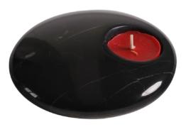 Design Teelichthalter aus Marmor div. Farben Stein Wohnaccessoire Naturmaterial