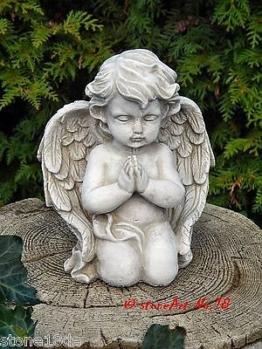 # Engel - 21cm - 2,5 kg - Engel Putte Schutzengel Grabengel Steinfigur Steinguss