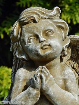 Engel - betender Engel - Putte Schutzengel Grabengel Steinfigur Steinguss