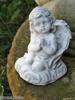 Engel - kleiner betender Engel Putte Schutzengel Grabengel Steinfigur Steinguss