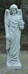 Engel stehend (A266) Grabengel Gartenfigur Skulptur Statue Steinguss 107cm 68kg
