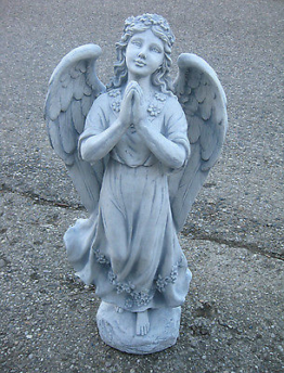 ENGEL Steinfigur massiv 75 cm hoch Grabengel Schutzengel betend groß Neu Statue