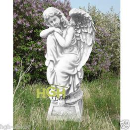 Engel trauernd Grabengel Figur Beton Stein Skulptur Engelsfigur Garten KA0189