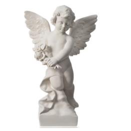 Engelchen Rose, aus weissem Marmor von Carrara